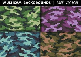 Multicam backgrounds vecteur gratuit