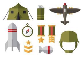 Icônes plates gratuites de la Seconde guerre mondiale vecteur