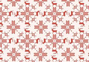 Motif rouge de renne vecteur