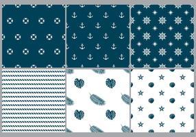 Patterns monochromes de plage vecteur