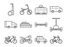 Vecteur d'icône de transport gratuit