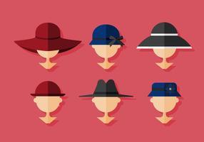 Chapeau Ladies Ladies vecteur