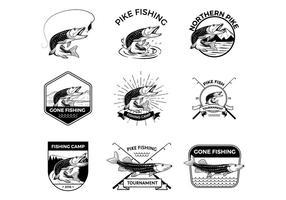 Vecteurs de pêche Pike gratuits vecteur