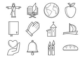 Icône icône de religion chrétienne libre vecteur