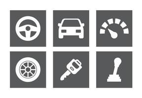 Ensemble d'icônes de pièces de voiture