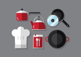 Ensemble de cuisine vectorielle vecteur