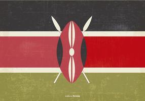 Drapeau vintage du Kenya vecteur