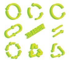 Flèche cercle 3d vecteur