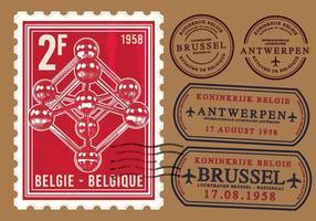 Timbre Atomium Brussel vecteur