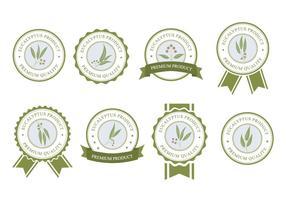 Étiquette Eucalyptus Gratuite vecteur