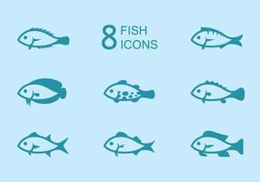 Icônes de poisson vecteur