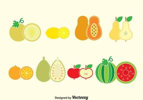 Vector de collection de fruits