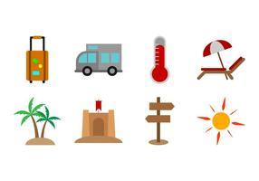 Vecteur gratuit de l'icône de la plage
