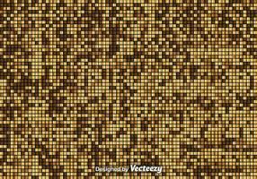 Fond de mosaïque doré vecteur