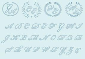 Monogrammes de mariage vecteur