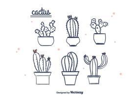 Vecteur de cactus dessiné à la main