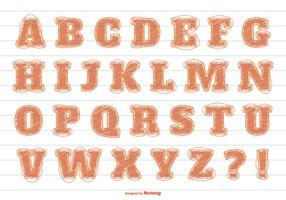 Alphabet vectoriel désordonné de style Scribble