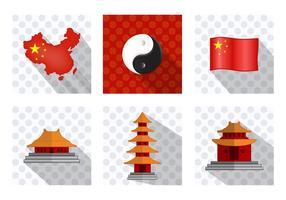 Icône de la ville de Chine vecteur