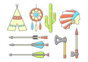 Ensemble vectoriel d'icônes indiennes