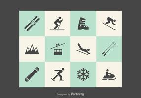 Icônes vectorielles gratuites de Wintersport vecteur