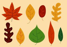 Vecteur des feuilles libres