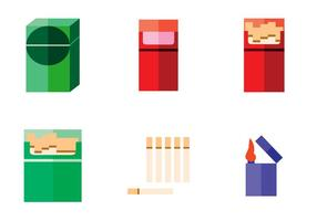Vector de paquet de cigarettes