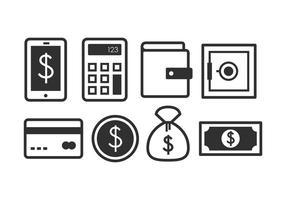 Ensemble d'icônes bancaire gratuit vecteur
