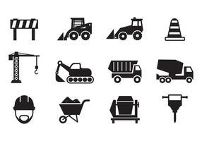 Vecteur libre d'icônes de construction
