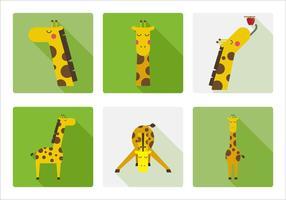 Girafe vectorielle vecteur