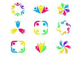 Vecteur libre de travail ensemble Logo