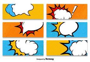 Modèles de vecteurs de bannière de style Cartoon vecteur