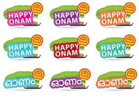 Titres Happy Onam vecteur