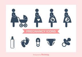 Icônes vectorielles de grossesse gratuite vecteur