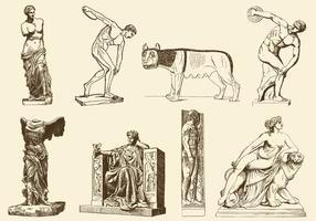 Sculptures anciennes vecteur