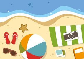 Vecteur de voyage d'été plat gratuit