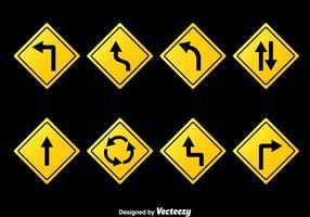 Vecteur de collection de panneaux routiers