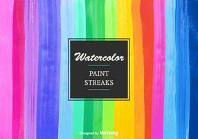 Rayures de peinture aquarelle vectorielle gratuites