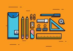 Vecteur de casier à crayons gratuit