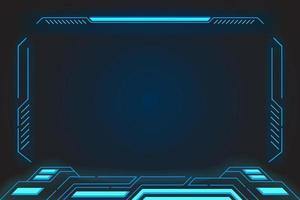 interface d'affichage de réalité virtuelle hud vecteur