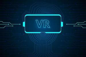 interface de technologie de réalité virtuelle hud