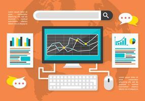 Fond d'écran vectoriel gratuit pour le marketing numérique