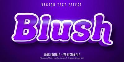 effet de texte violet brillant rose vecteur