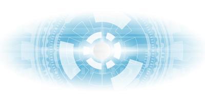 roue bleue de style hi-tech et lumière blanche vecteur