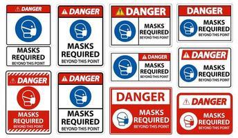 masques de danger requis au-delà de cet ensemble de panneaux de points
