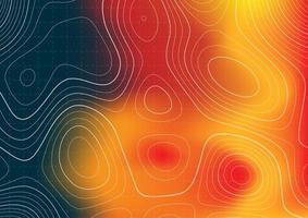 conception de la topographie avec superposition de cartes thermiques vecteur