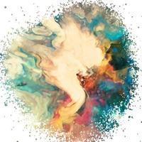 texture aquarelle abstraite colorée