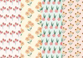 Carré de fleurs sauvages Patterns d'aquarelle