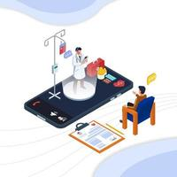 communication en ligne avec le médecin vecteur