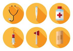 Ensemble d'icônes médicales médicales vecteur