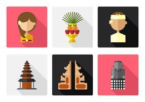 Ensemble d'icônes Vector Bali